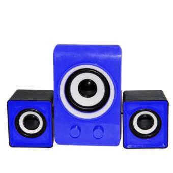 KS ลำโพง USB Multimedia Speaker Micro 2.1 รุ่น LX311 (สีฟ้า)