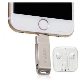 iDrive iDiskk Pro USB 2.0 64GB แฟลชไดร์ฟสำรองข้อมูล iPhone,IPad แบบหมุน + OEM หูฟัง