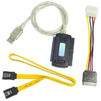 Harga USB 2.0 to IDE SATA 5.25 S-ATA/2.5/3.5 Adapter Cable 480Mb/s Speed