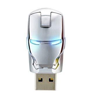 แฟลชไดร์ฟ รุ่น Iron Man USB 2.0 Flash Memory Drive Stick Pen Thumb U Disk 16GB (สีเงิน)