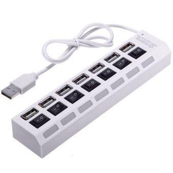 BestBuy ที่ชาร์จมือถือ ช่อง HUB USB 7 Port High Speed 480Mbps USB 2.0 (White)