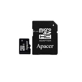 Harga Apacer Micro SDHC Class4 16GB with Adapter - Black