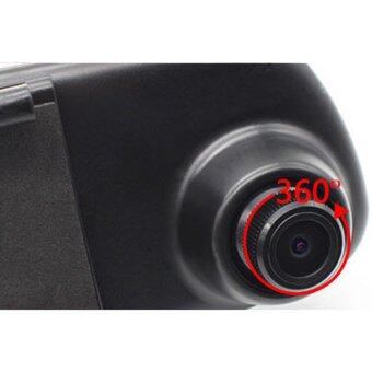 BESTกระจก ติดรถยนต์ รูปทรงกระจกมองหลัง พร้อมกล้องมองหลัง HD 1080P Vehicle Blackbox DVR Rearview Mirror Dual Channel Recorder - Black (image 3)