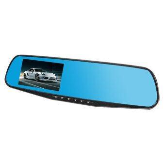 BESTกระจก ติดรถยนต์ รูปทรงกระจกมองหลัง พร้อมกล้องมองหลัง HD 1080P Vehicle Blackbox DVR Rearview Mirror Dual Channel Recorder - Black (image 4)