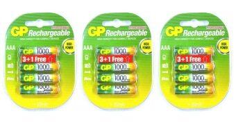 GP Battery แบตเตอรี่แบบชาร์จได้ ขนาด AAA 1000mAh 12 ก้อน