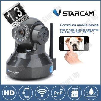 สินค้ายอดนิยม Vstarcam กล้องวงจร ปิด IP Camera รุ่น C7837wip version2 รองรับ 64G 1.0 Mp and IR Cut WIP HD ONVIF(Black) ขายดี