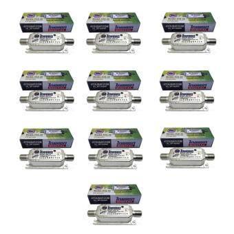 Thaisat Digital Booster TDA-20 อุปกรณ์ขยายสัญญาณทีวีดิจิตอล แพ็ค 10(Silver)