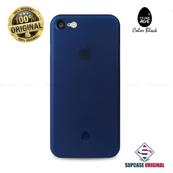 STONE AGE Color Block Collection Slim Fit Case 0.4 mm. ของแท้ สำหรับ iPhone 7 สีน้ำเงิน (Navy Blue)