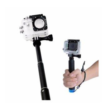 GoPro ไม้เซลฟี่ กล้อง Gopro / SJ CAM / Action Camera(Blue)