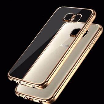 Case Samsung S7 edge เคสใสขอบทอง เคสนิ่ม เคสซัมซุง Soft Case Samsung S7 edge Gold TPU ใส ขอบ สีทอง