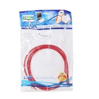 LINK สาย Lan สำเร็จรูปพร้อมใช้งาน ยาว 2 เมตร (US5006) CAT5e UTP Cable 2m. (สีแดง)