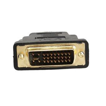 DVI หัวแปลง DVI 24+5 to HDMI Female Gold