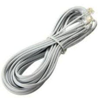 D-PLUGสายโทรศัพท์บ้าน 3 เมตรสีขาว