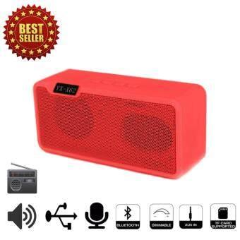 StoreTexShop X62 Speaker Bluetooth/FM radio/TF Black/USB ลำโพงไร้สายบลูทูธ สีแดง