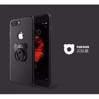 D8 เคส PC แหวนหมี สีดำ สำหรับ iPhone 7
