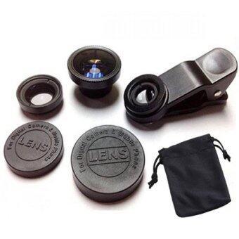 LIEQI Premium Clip Lens LQ-001 Super Wide คลิปเลนส์มือถือ 3 in 1 (Black)