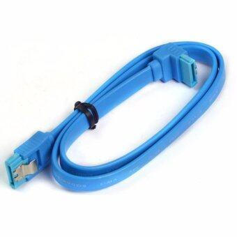 แพคคู่ 2 ชิ้น สาย 0.30M Super Speed SATA 3.0 III SATA3 6GB/s Hard Disk Drive Cable Durable 30cm สีฟ้า (2ชิ้น)