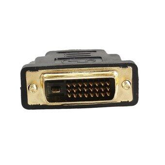 DVI หัวแปลง DVI 24+1 to HDMI Female Gold