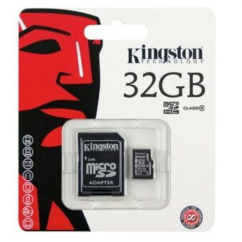 check ราคา Kingston Micro SD Class 10 U1 80/10 MB/s - 32GB With Adapter(SDC10G2/32GBFR) ขายถูก