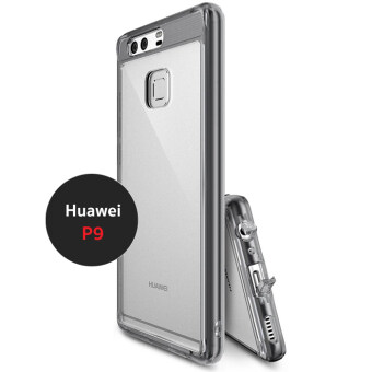 Huawei Hybrid Protective antishock case เคสกันกระแทก ระดับ Military Grade สำหรับ Huewei P9 สีดำใส (Smoke Black)
