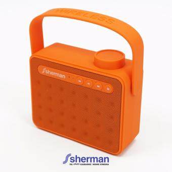 Sherman ลำโพงแบบพกพา Bluetooth รุ่น S-10 (สีส้ม)
