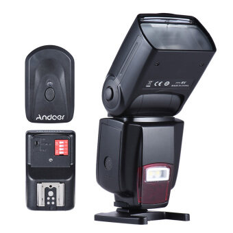 Andoer โฆษณา 560Â...วาบ Speedlite ¡สากลบนกล้องแฟลช GN50 ด้วยแสง led ปรับได้ใส่+Andoer สากล 16 สถานีวิทยุไร้สายรีโมท Speedlite แฟลชทริกเกอร์