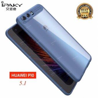 IPAKY maoxin Original iPaky For Huawei P10 /P10 plus Case (เลือกสินค้าตามรูปภาพ) ขอบสีหลังใส Soft Silicone Frame Hard Transparent Back Cover