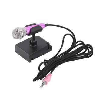 KH ไมโครโฟนจิ๋ว คาราโอเกะ (Mini Microphone Karaoke) สำหรับโทรศัพท์มือถือ, แท็บเล็ต, โน๊ตบุ๊ค (สีชมพู)