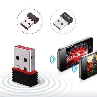 WIFI USB Wireless Network LAN Adapter ตัวรับไวฟายสุดคุ้ม (สีดำ) ฟรีแผ่นรองเมาส์ (image 2)