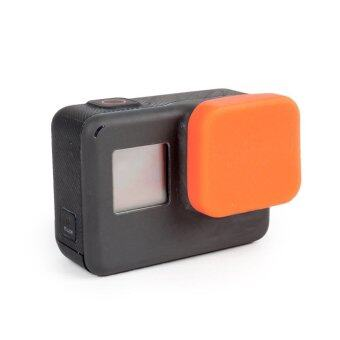 Harga Newest Soft Silicone Protective Lens Cap Case Cover For Gopro Hero 5 Camera Orange - intl