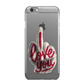 AFTERSHOCK TPU Case iPhone 6 Plus / 6s Plus (เคสใสพิมพ์ลาย I Love you) / Thin 0.33 mm