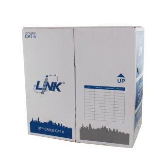 Link (US9116) Original CAT6 UTP Cable (305m/Box) สายแลน(ภายนอก และภายในอาคาร) ยกกล่อง ยาว 305 เมตร ฉนวน 2 ชั้น (ฺฺสีดำ)