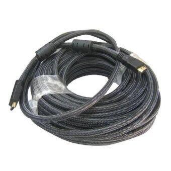 HDMI OP สาย HDMI ต่อภาพเสียงทีวี ยาว 15M เมตร v1.4 (Black)