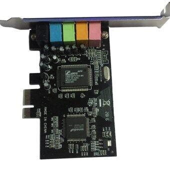 โอ้ PCI Express x1 PCI-E 5.1CH CMI8738 ชิปเซ็ตการ์ดเสียงแบบใหม่