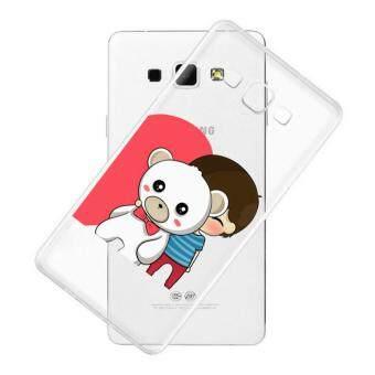 AFTERSHOCK TPU Case Samsung Galaxy J7 2015 (เคสใสพิมพ์ลาย Bear Hug 2 ) / Thin 0.33 mm
