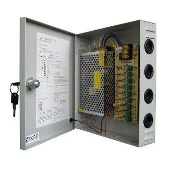 Mastersat กล่องรวมไฟ 18 Ch. 12V 20A สำหรับกล้องวงจรปิด 8-12 จุด ไม่ต้องใช้ อแดปเตอร์ Switching Power Supply