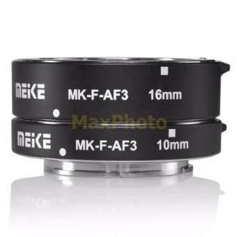 Meike ท่อต่อเลนส์ถ่ายมาโครกล้องฟูจิ X-T1,X-T2,X-T10,X-Pro1,X-Pro2 หน้าสัมผัสโลหะ ปรับรูรับแสงได้ Fuji Macro Extension Tube