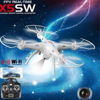 Drone ติดกล้อง WiFi พร้อมระบบถ่ายทอดสดแบบ Realtime(NEW มีระบบ กันหลงทิศ + ปุ่มบินกลับอัตโนมัติ)สีขาว