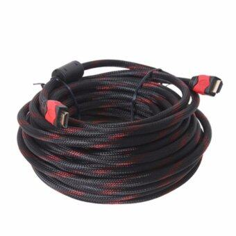 HDMI Cable High Speed HDMI V.1.4 M/M ยาว15M สายถัก (Black/Red)