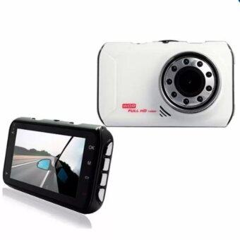 FHD กล้องติดรถยนต์ WDR และ Parking Monitor หน้าจอใหญ่ 3.0นิ้ว รุ่น FH05 (White)