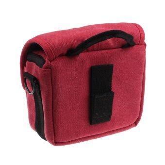 SLR Digital Camera Case Shoulder Bag Backpack for Canon For Sony (Red) (image 3)