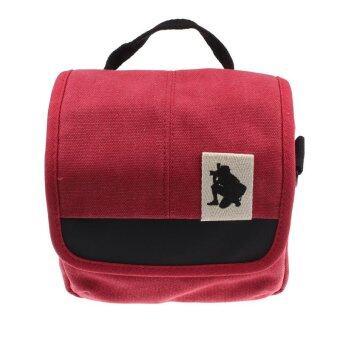 SLR Digital Camera Case Shoulder Bag Backpack for Canon For Sony (Red) (image 1)