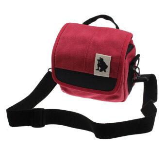 SLR Digital Camera Case Shoulder Bag Backpack for Canon For Sony (Red)