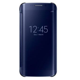 ครอบกระจกใสดูเคสคับสำหรับ Samsung Galaxy S6 Edge โทรศัพท์มือถือกระเป๋าหนัง (สีดำ)