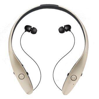 HBS900 ไร้สายบลูทูธ 4.0 ชุดหูฟังสเตอริโอ NeckbandEarphone หูโทรศัพท์สากลกีฬาสำหรับ iPhone สำหรับ Samsungfor LG โทรศัพท์น้ำเสียงทั้งหมด (ทอง)