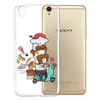 AFTERSHOCK TPU Case OPPO F1 Plus (เคสใสพิมพ์ลาย Chef) / Thin 0.33 mm