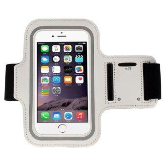 I - CHEAP Waterproof Sport Running Armband Case ปลอกแขนมือถือออกกำลังกาย กันน้ำได้ หน้าจอ 5.5 นิ้ว (สีเทา)