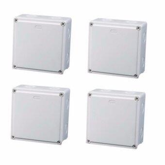 Mastersat กล่องกันน้ำ 4x4'' สำหรับงานติดตั้ง กล้องวงจรปิด หรืออุปกรณ์ไฟฟ้าอื่นๆ 4 กล่อง (White)