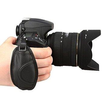 (นำเข้า) หนังรัด EACHSHOT ด้ามจับสำหรับ Canon EOS T5i T4i T3i 60D 70D 5D Nikon D7200 D7000 D600 D800 D90 D5200 D3100 Sony Olympus SLR/DSLR สายรัดข้อมือหนัง