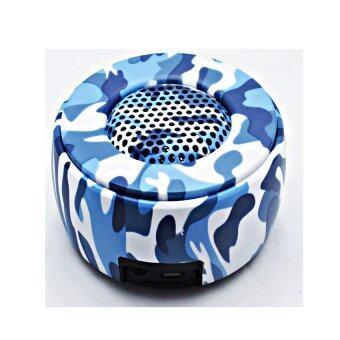 Startup Bluetooth Speaker ลำโพงบลูทูธแบบพกพา รุ่น M217 ลายทหาร (Blue)